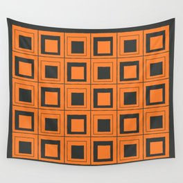 Orange Squares Wall Tapestry