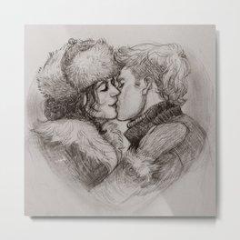 A kiss in winter Metal Print