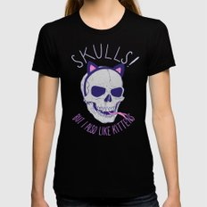 Skulls and Kittens Black X-LARGE Womens Fitted Tee