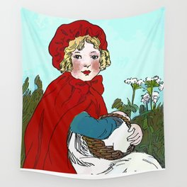 Little Red Riding Hood Painting Wall Tapestry