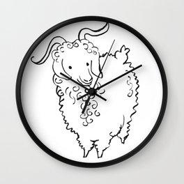 Angora Goat Wall Clock