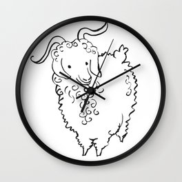 Angora Goat Wall Clock