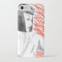 mia wallace iPhone & iPod Cases featuring Mia Wallace by Natália Damião