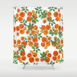 Fresh Orange Juice Pattern Shower Curtain