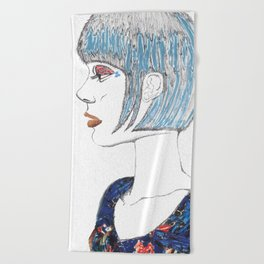 Self Portrait Beach Towel