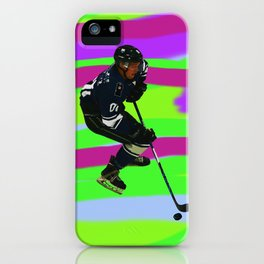 Taking Control- Ice Hockey Player & Puck iPhone Case
