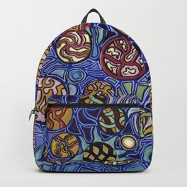 Flower Collage Abstract Backpack