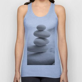 Zen beach rocks print, balancing roks Beach decor art print Unisex Tank Top