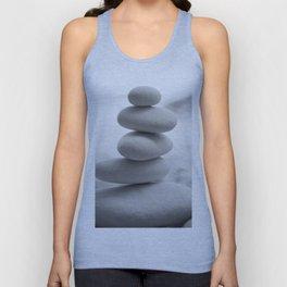 Zen beach rocks print, balancing rocks, mnimalist Beach decor, wall art Unisex Tank Top