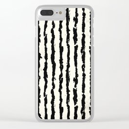Vertical Ivory Stripes Clear iPhone Case