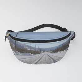 Carol M. Highsmith - Snow Covered Railroad Tracks Fanny Pack