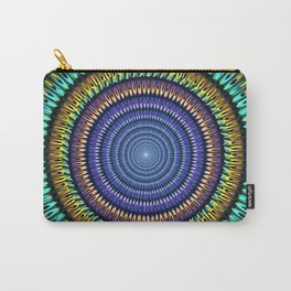 Colourful radiant abstract mandala Carry-All Pouch
