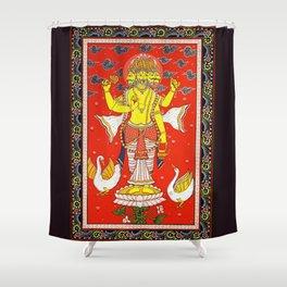 Hindu Lord Brahma 1 Shower Curtain