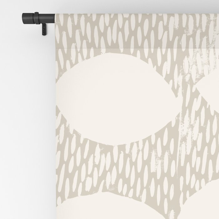 Arches Block Print in Cream Blackout Curtain