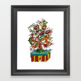 Tiki Island Framed Art Print