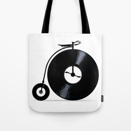 Penny Farthing With Vinyl Records Tote Bag
