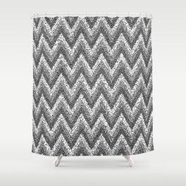 black&white zigzag Shower Curtain