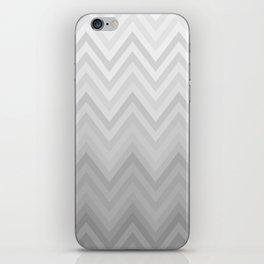 Chevron Fade Grey iPhone Skin