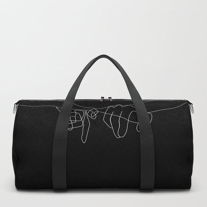 Black Pinky Swear Duffle Bag