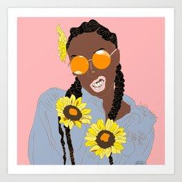 Believe in Yo Juice - Digital Black Goddess Vector Drawing Art Print