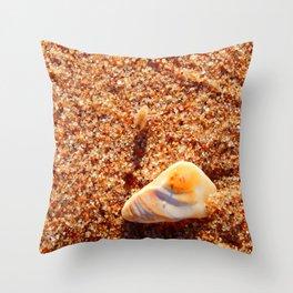 Sand Flea on the Beach Throw Pillow