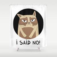 grumpy Shower Curtains featuring Grumpy by Adrian Serghie