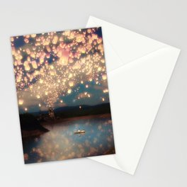Love Wish Lanterns Stationery Cards