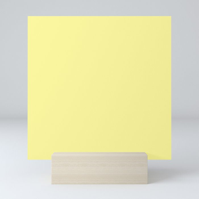 Simply Pastel Yellow Mini Art Print