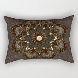 Steampunk, beautiful mandala Rectangular Pillow