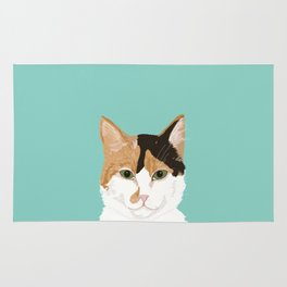 Calico Cat - Cute cat black, white, tan, orange tabby cat, cute kitten Rug