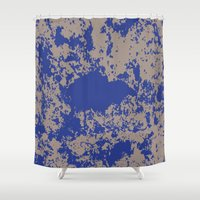 david fleck Shower Curtains featuring mauer fleck by wolasek design