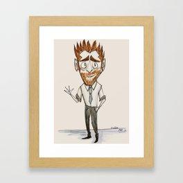 Friendly Freddie Framed Art Print