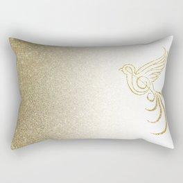 Golden Songbird Rectangular Pillow