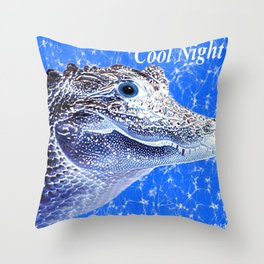 aligatore Throw Pillow