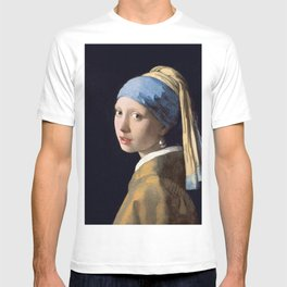 GIRL WITH A PEARL EARRING - JOHANNES VERMEER T-shirt