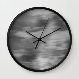 Smokey Mist (Gray) Illustration, Digital Watercolor Camo Blend - Fluid Art Wall Clock