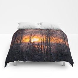 Sunset Winter Landscape #decor #society6 #homedecor #buyart Comforters
