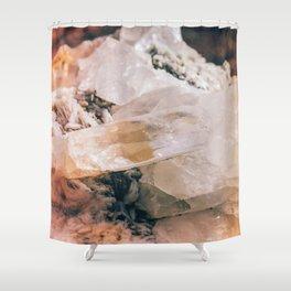 Dreamy Large Quartz Crystals Shower Curtain