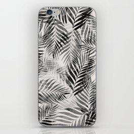 Palm Leaves - Black & White iPhone Skin