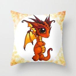 Baby Orange Dragon Throw Pillow