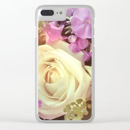 ROMANCE #1 - White Rose Clear iPhone Case