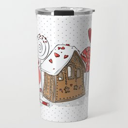 gingerbread home Travel Mug