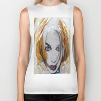 blondie Biker Tanks featuring Blondie by Capracotta Art