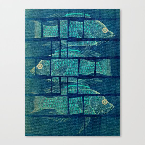 Fish Under Strong Radiation Canvas Print