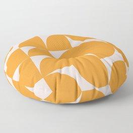 Modernist Shapes in Orange Floor Pillow