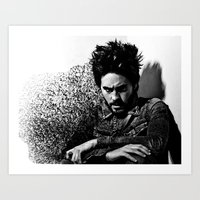 jared leto Art Prints featuring Jared Leto by Katerina Gold