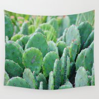 pear Wall Tapestries featuring Prickly Pear Cactus by Beach Bum Pics