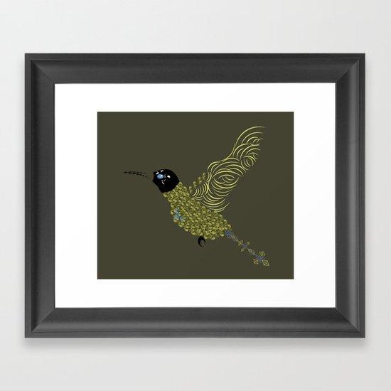 Abstract Hummingbird Framed Art Print