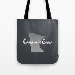 Minnesota Home Sweet Home Grey Tote Bag