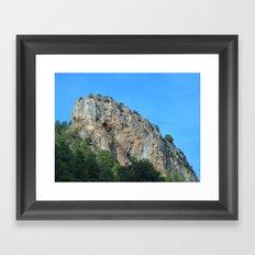 The rock Framed Art Print